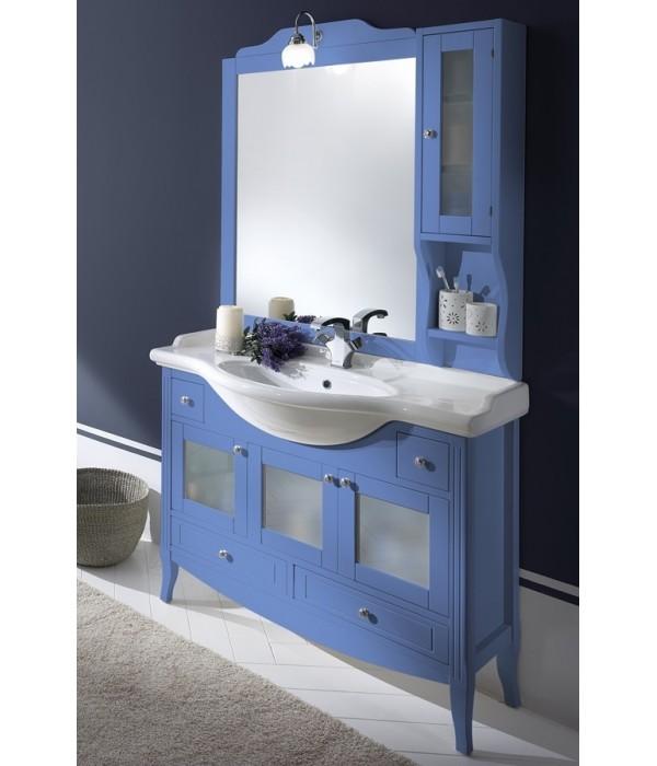 Комплект мебели Bagno Piu Sophia 105 голубой с дверцами под стекло