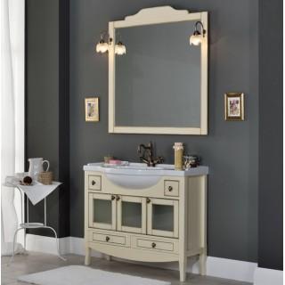 Комплект мебели Bagno Piu Sophia 105 Венецианская патина с золотом с дверцами под стекло