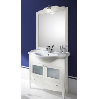 Комплект мебели Bagno Piu Sophia 85 Белый матовый с дверцами под стекло
