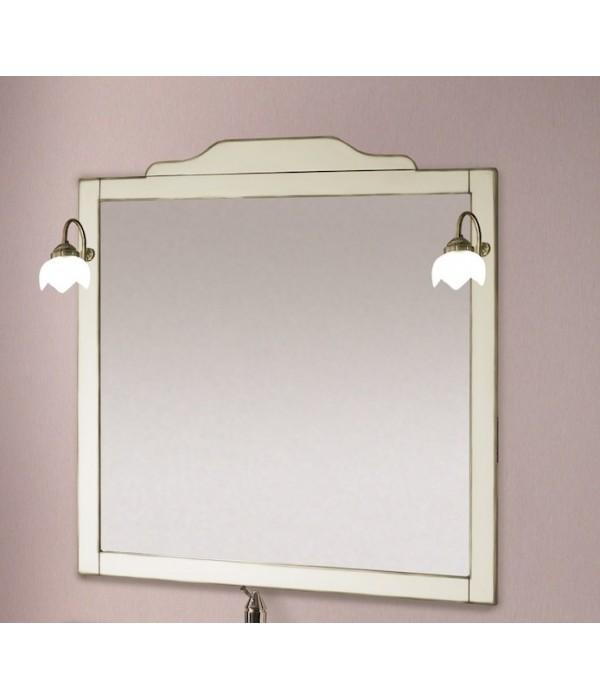Зеркало в деревянной раме в отделке Венецианская патина с золотом Bagno Piu Laura 101