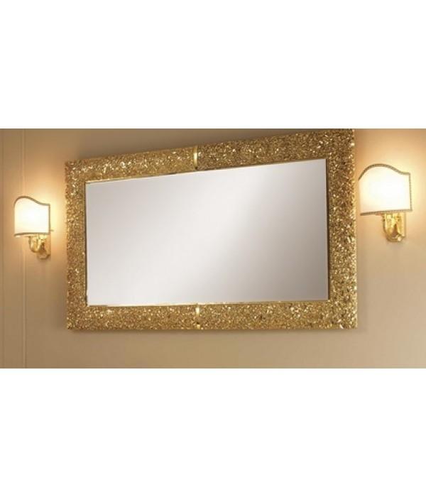 Зеркало в раме в отделке состаренное золото Bagno Piu Poesia 110