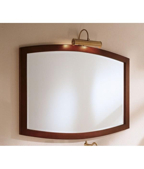 Овальное зеркало в отделке Орех Bagno Piu Poesia 120