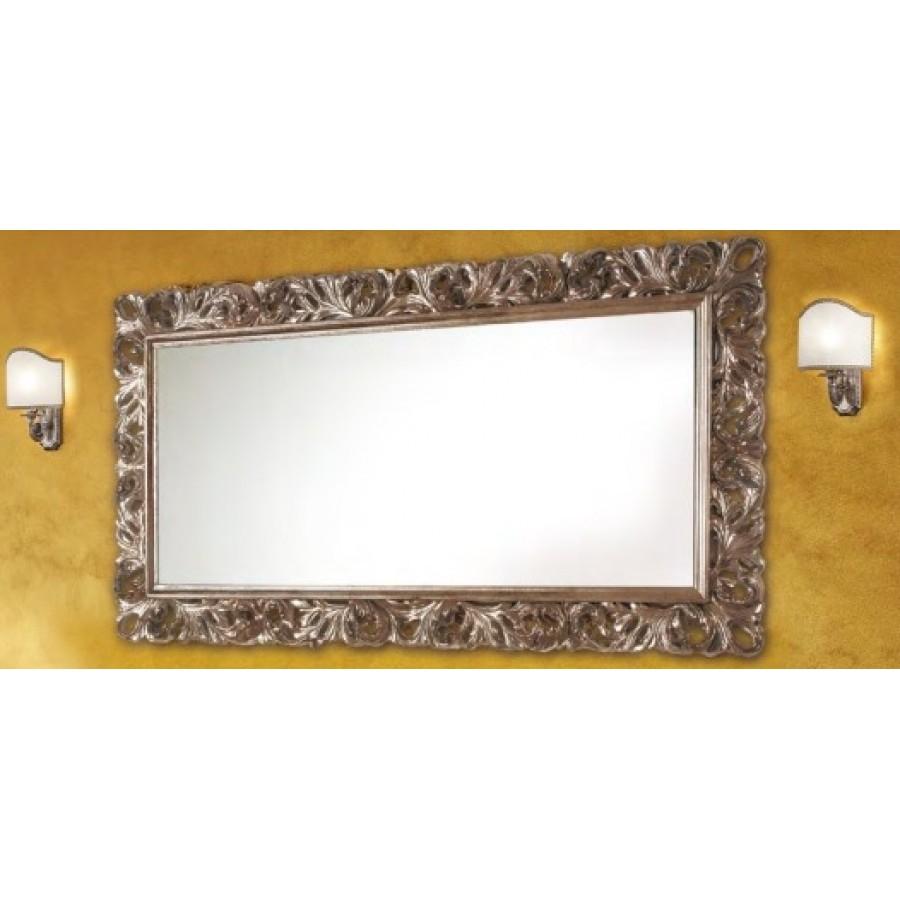 Зеркало в отделке Белый матовый с серебром Bagno Piu Poesia 160