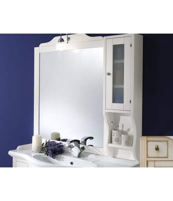 Зеркало-шкаф в деревянной раме в отделке Венецианская патина с золотом Bagno Piu Sophia 101