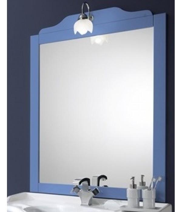 Зеркало в деревянной раме в отделке голубой Bagno Piu Sophia 101