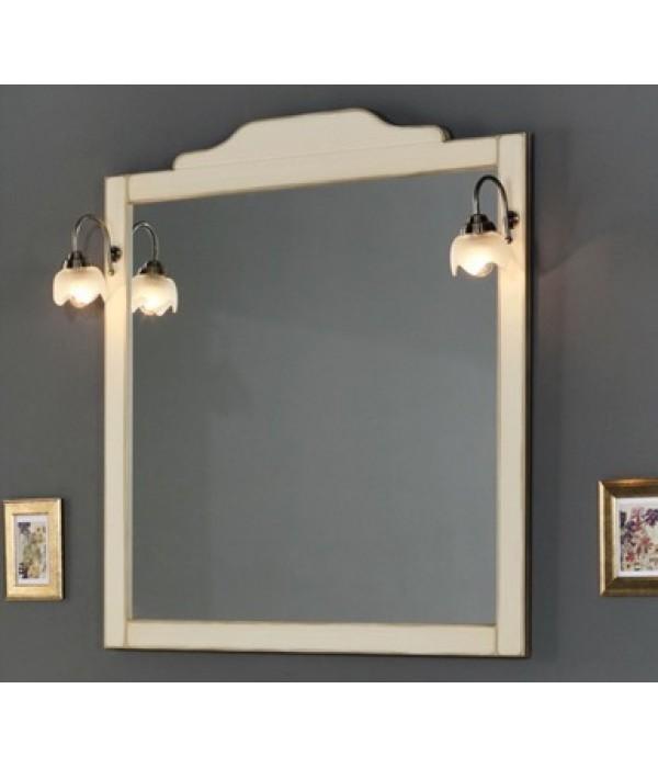 Зеркало в деревянной раме в отделке Венецианская патина с золотом Bagno Piu Sophia 101