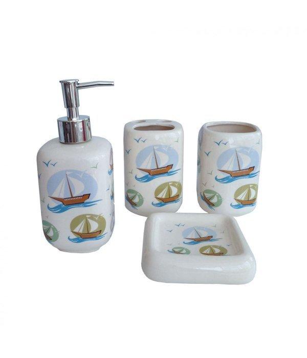 BOAT Набор аксессуаров для ванной, 4 предмета