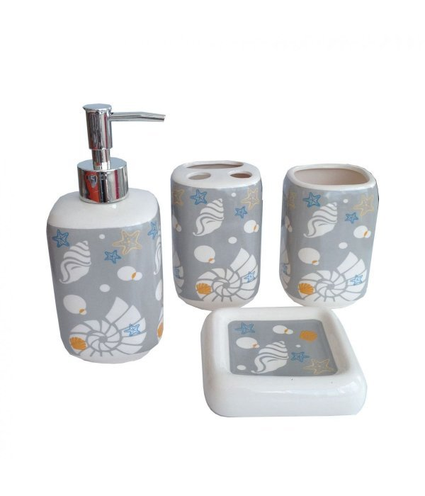SHELL Набор аксессуаров для ванной, 4 предмета