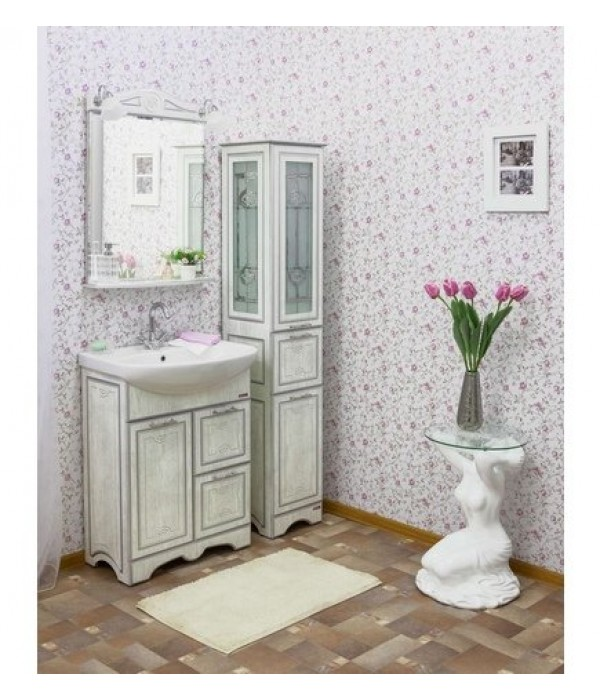 Комплект мебели Sanflor Адель 65, дуб/серебро