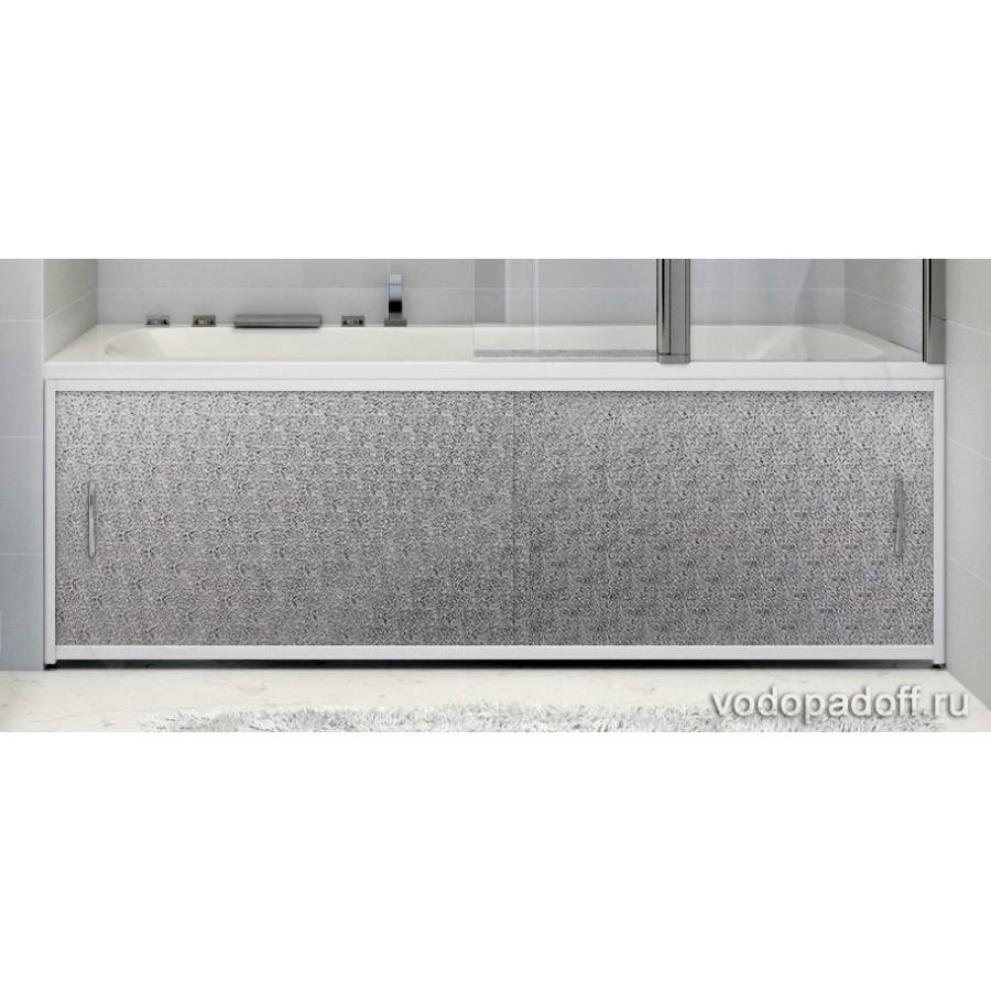 Экран под ванну Francesca Premium Kолотый лед Серебро Размер на заказ изготовление 1-2 дня