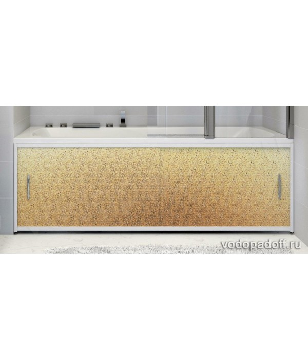Экран под ванну Francesca Premium Kолотый лед Золото Размер на заказ изготовление 1-2 дня