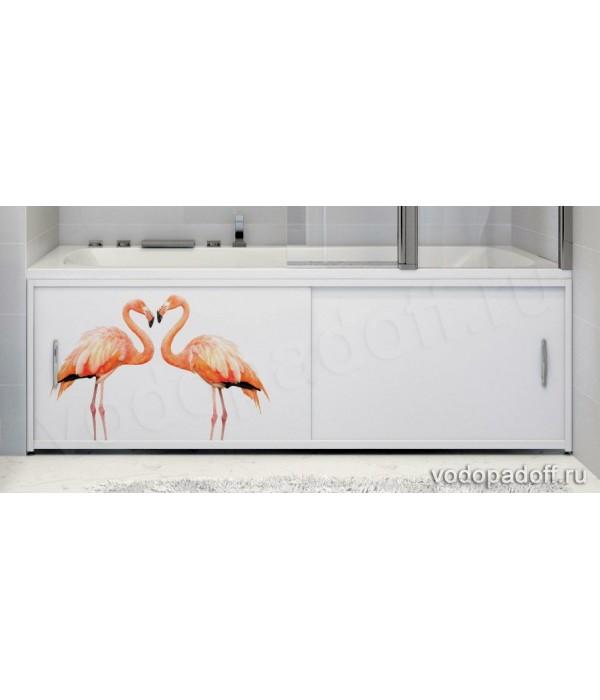 Фотоэкран для ванны Francesca Premium Фламинго Размер на заказ изготовление 1-2 дня