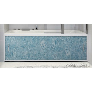 Экран под ванну Francesca Premium голубой мрамор Размер на заказ изготовление 1-2 дня
