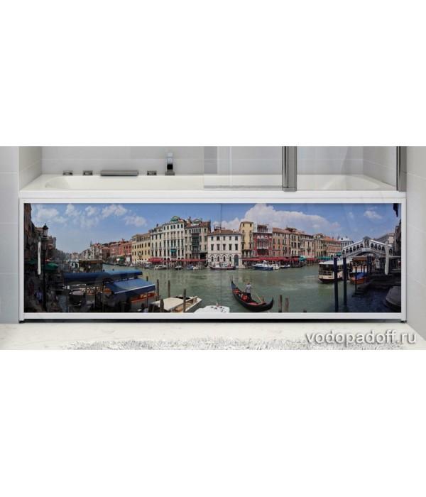 Фотоэкран для ванной  Francesca Premium Город на воде Размер на заказ изготовление 1-2 дня