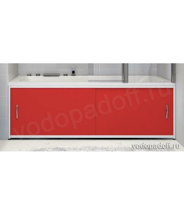 Экран для ванной Francesca Premium красный Размер на заказ изготовление 1-2 дня