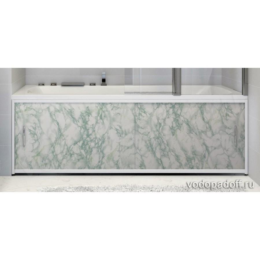 Экран под ванну Francesca Premium салатовый мрамор Размер на заказ изготовление 1-2 дня