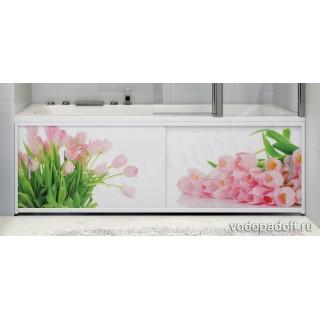 Фотоэкран под ванну Francesca Premium Тюльпаны Размер на заказ изготовление 1-2 дня