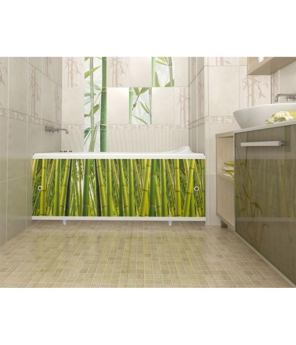 Экран под ванну раздвижной Л Бамбуковая роща 148 см