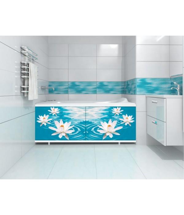 Экран под ванну раздвижной Л Кувшинка 168 см