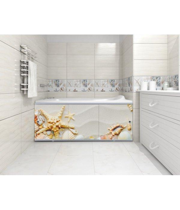 Экран под ванну раздвижной Морская звезда 148 см