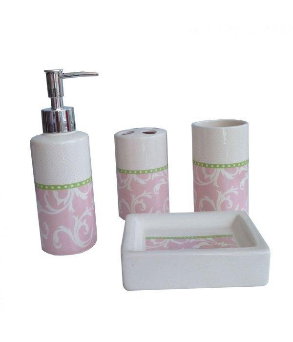PINK Набор аксессуаров для ванной, 4 предмета