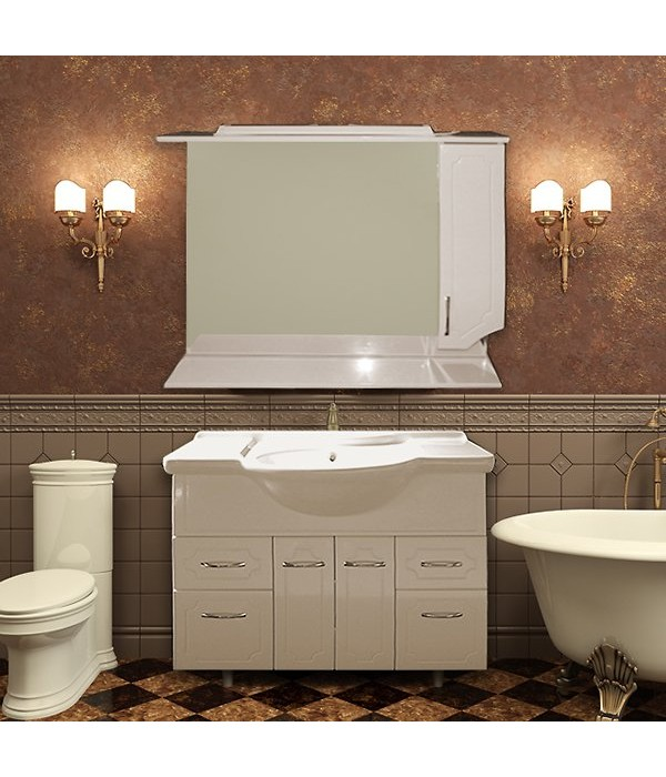 Комплект мебели Grace Мелисса 105 белый глянец