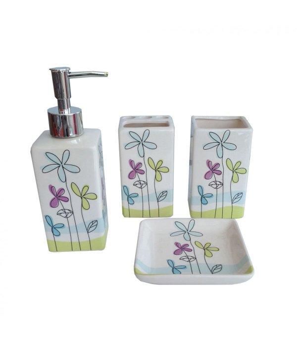 FLOWER Набор аксессуаров для ванной, 4 предмета
