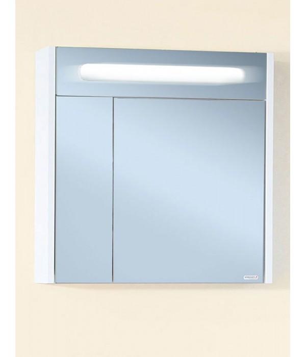 Зеркало Бриклаер Палермо 74 белый глянец