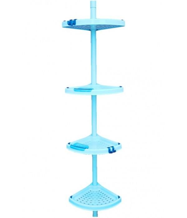Голубой комплект угловых полок