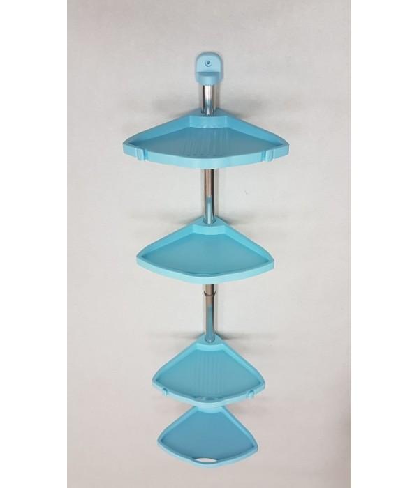 Комплект угловых регулируемых полок голубой