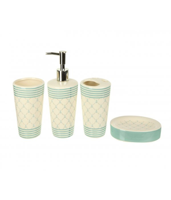 RHOMBUS Набор аксессуаров для ванной, 4 предмета