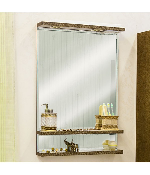 Зеркало Sanflor Румба 60, венге/золото