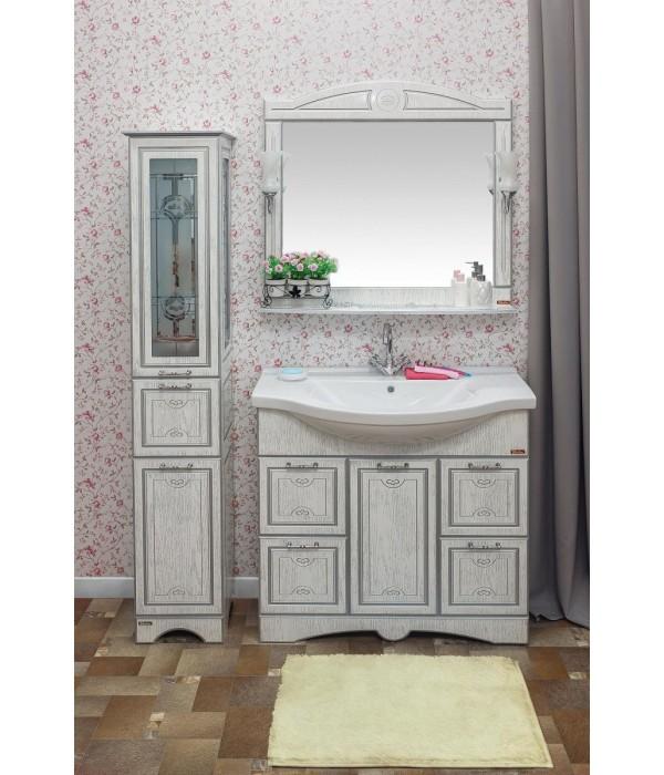 Комплект мебели Sanflor Адель 100, белый/серебро
