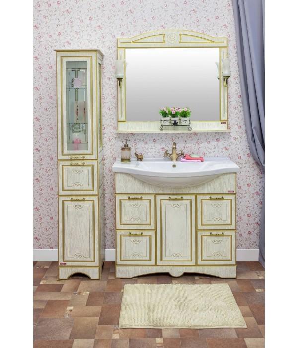 Комплект мебели Sanflor Адель 100, белый/золото