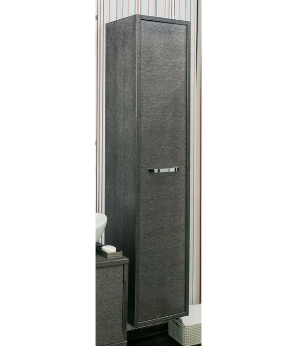 Шкаф-пенал Sanflor Румба I, 1 дверца, венге/серебро