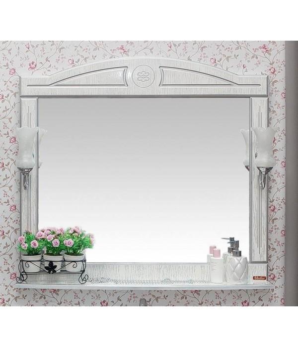 Зеркало Sanflor Адель 100, белый/серебро