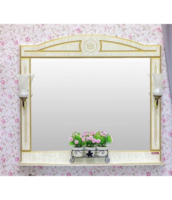 Зеркало Sanflor Адель 100, белый/золото