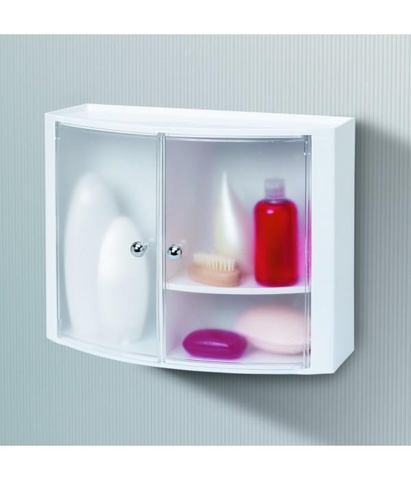 Пластиковый настенный шкафчик с дверцами