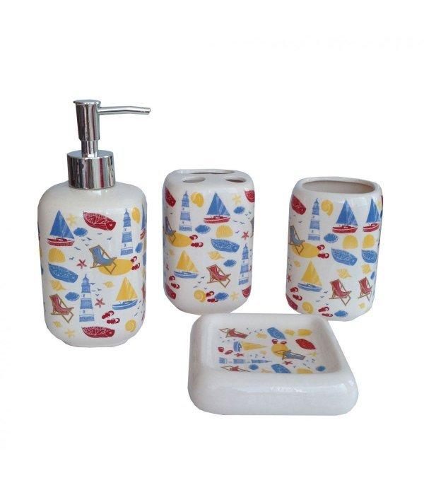 RAINBOW Набор аксессуаров для ванной, 4 предмета