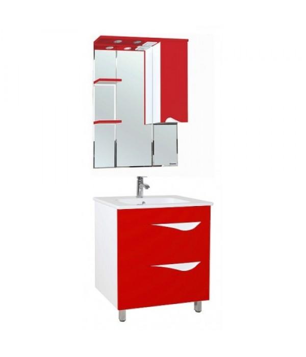 Комплект мебели Bellezza Эйфория 80, красный