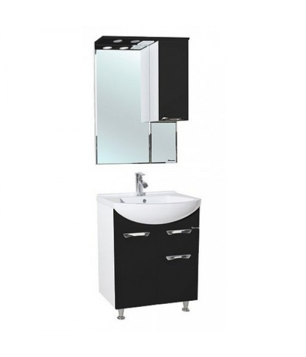 Комплект мебели Bellezza Альфа 65 с ящиком, черный