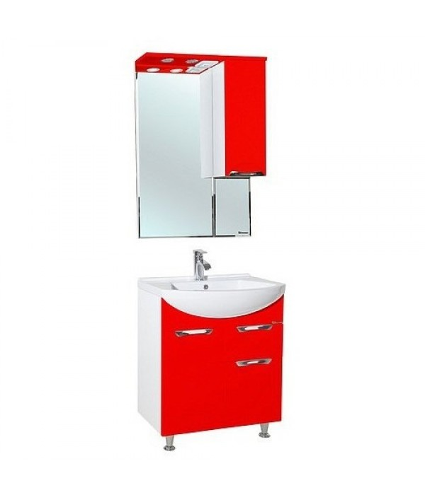 Комплект мебели Bellezza Альфа 65 с ящиком, красный
