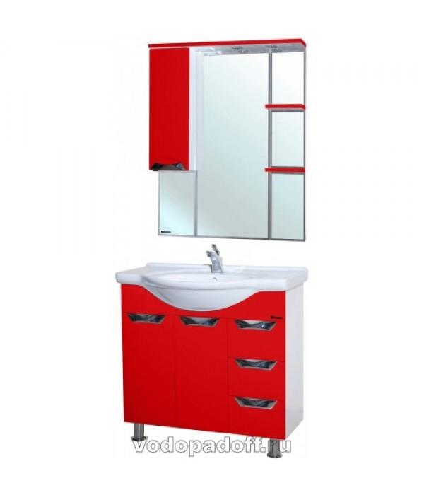 Комплект мебели Bellezza Белла 85 Люкс с бельевой корзиной, красный