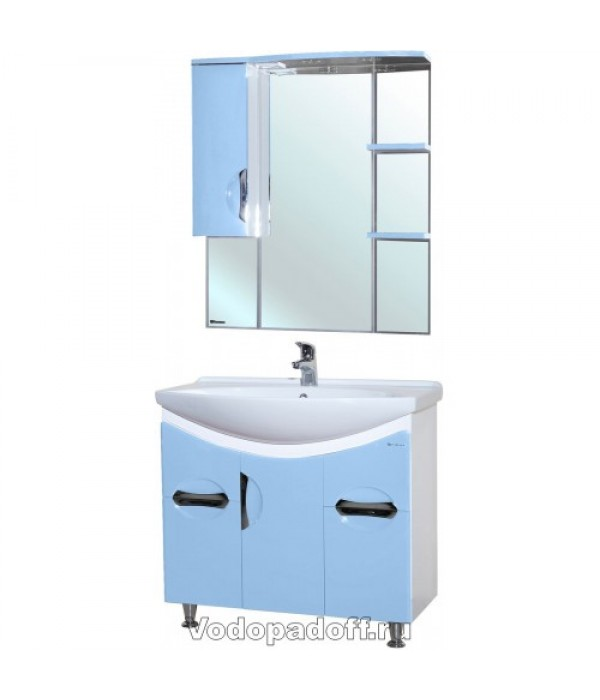 Комплект мебели Bellezza Лагуна 85, голубой