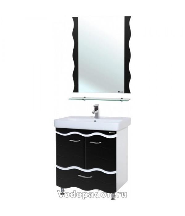 Комплект мебели Bellezza Мари 70 с нижним ящиком, черный