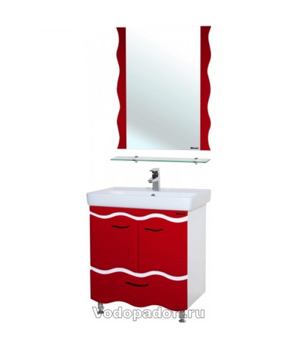 Комплект мебели Bellezza Мари 70 с нижним ящиком, красный