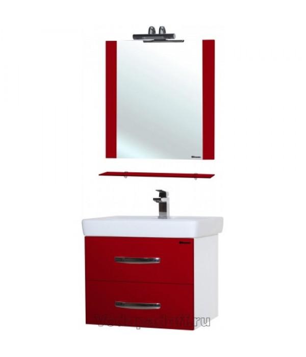 Комплект мебели Bellezza Рокко 60 подвесная, красный