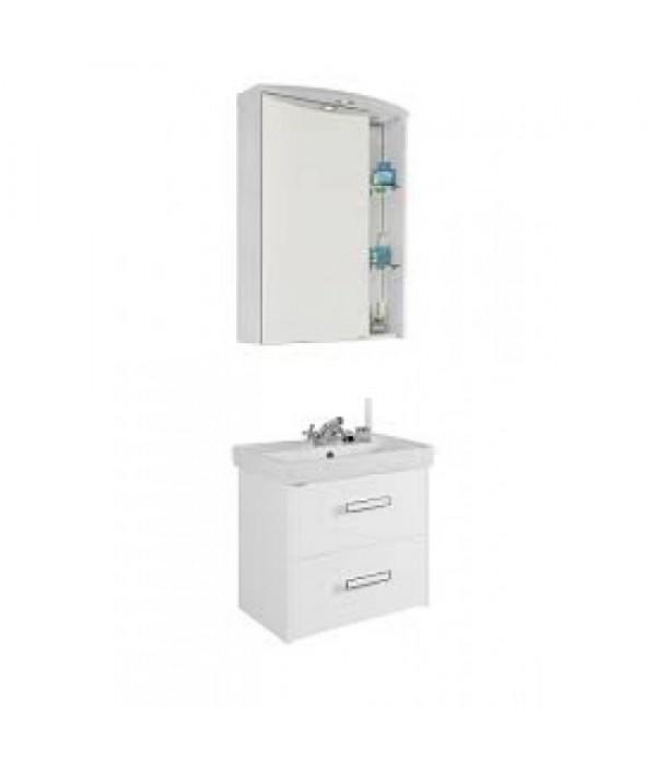Комплект мебели для ванной 60 с ящиками 1.2, белый