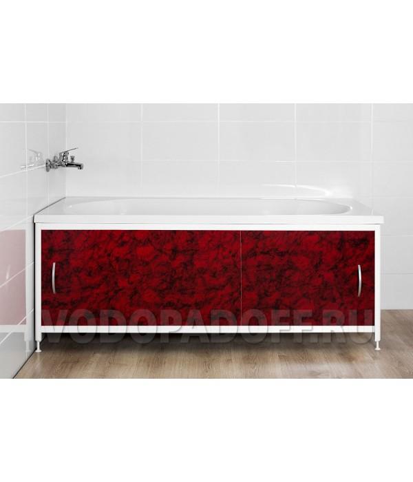 Фотоэкран под ванну 4056 Мрамор вишневый Премиум Размер 148/168