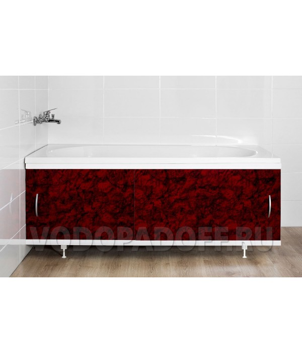 Фотоэкран под ванну 4056 Мрамор вишневый Классик Размер 148/168